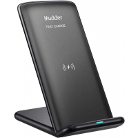 10W Fast Wireless Charger, Mudder 2 Coils QI Wireless Charging Stand for Samsung Galaxy S9, S9 Plus, Note 8, S8, S8 Plus, S7, S7 Edge,iPhone X/ 8/8 Plus and Other QI-Enabled Devices