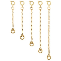 Mudder 5 Pieces Necklace Extenders Bracelet Extender Chain Set for Necklace Bracelet DIY Jewelry Making (Gold)