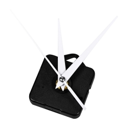 Mudder Hands Clock Movement, 3/ 25 Inch Maximum Dial Thickness, 1/ 2 Inch Total Shaft Length (White)
