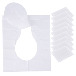 Mudder Disposable Hygienic Toilet Seat Covers Flushable Toilet Seat Papers Self-adhesive Travel Pack, 10 Sheets/ Pack (5)
