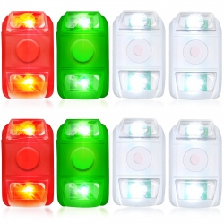 8 Pieces Boat Navigation Lights Waterproof Marine Bow Lights Portable LED Boating Lights for Small Boats, 3 Colors