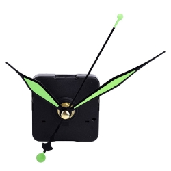 Mudder Quartz Clock Movement Mechanism Green Hands DIY Replace Repair Parts Kit