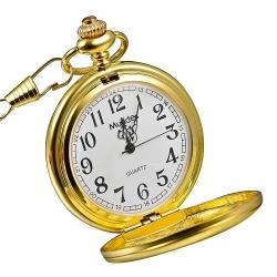 Mudder Vintage Mens Pocket Watch, Golden
