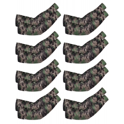 Mudder 8 Pairs Unisex UV Protection Arm Cooling Sleeves Ice Silk Arm Cover (Camouflage)