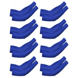 Mudder 8 Pairs Unisex UV Protection Arm Cooling Sleeves Ice Silk Arm Cover (Blue)