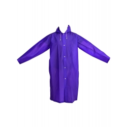 Mudder Portable Raincoat Rain Poncho with Hoods and Sleeves, Purple