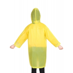 Mudder Kids Children Rain Poncho Raincoat Portable with Hoods and Sleeves, Yellow