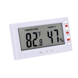 Mudder Indoor Digital Thermometer/ Hygrometer, Temperature and Humidity Monitor, White