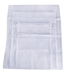 Laundry Bags, Mudder Zippered Mesh Washing Bags, Set of 3 (Big Mesh, White)