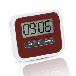 Mudder Cook Kitchen Magnetic Digital Timer with Large Screen, Dark Red