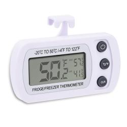 Mudder Wireless Digital Refrigerator/ Freezer Thermometer, White