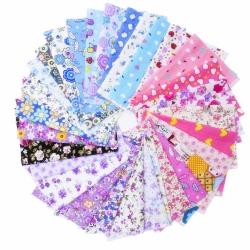 Mudder 30 Pieces 20 * 15 cm Fabric Patchwork Cotton Mixed Squares Bundle
